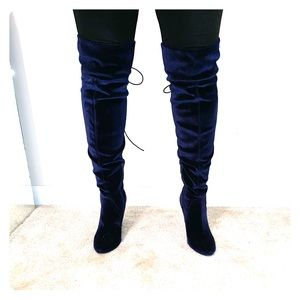 blue valor boots by steve madden